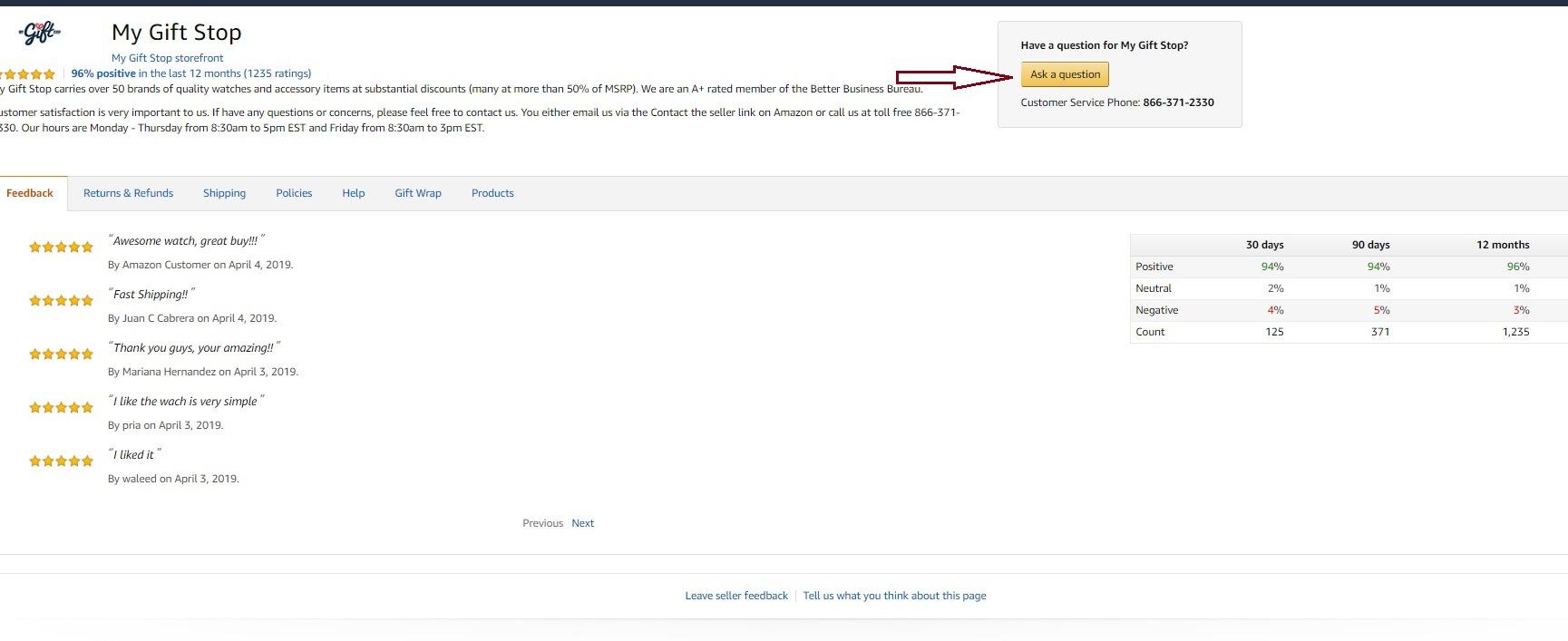 Contact Amazon Sellers